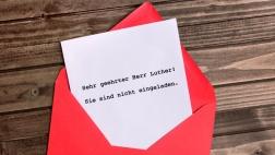 """So hätte die """"Einladung"""" für Martin Luther zum Kirchentag wahrscheinlich ausgesehen..."""