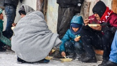 Flüchtlinge in Belgrad.