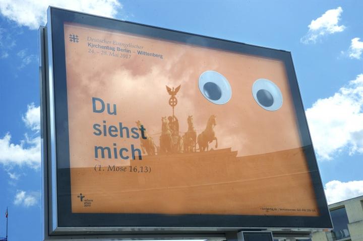 Plakatkampagne fuer Kirchentag 2017 in Berlin und Wittenberg vorgestellt