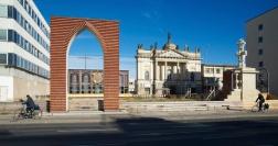 Bogen von der Grundsteinlegung zum Wiederaufbau der Garnisonkirche
