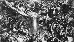 """Kupferstich """"The Conversion of Paul"""" von Antonio Tempesta, 16. Jahrhundert."""