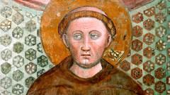 Der Heilige Franziskus auf einem Fresko von Andrea de' Bartoli von 1359/67.