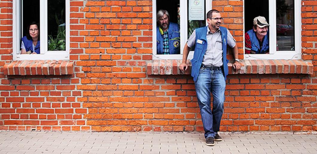 Mitarbeiter der Bahnhofsmission in Halberstadt
