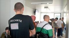 Warteschlange in der zentralen Aufnahmeeinrichtung für Asylbewerber in Berlin.