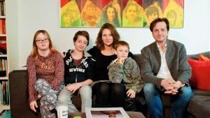 Familie Grünewald zu Haus