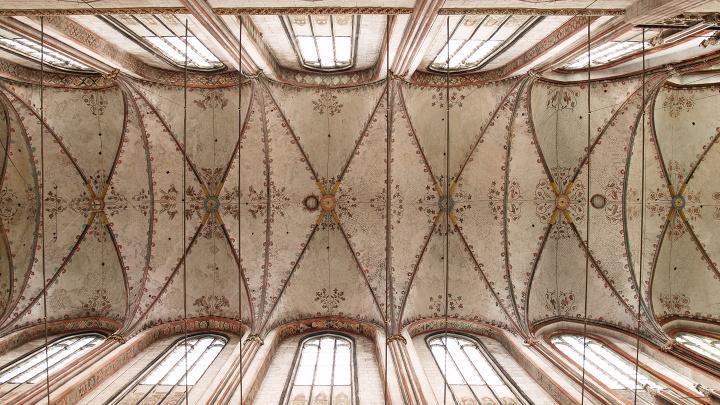 Das Mittelschiff der Kirche St. Marien