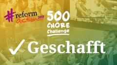"""500 Chöre haben bislang ihre Version von Martin Luthers berühmtem Choral """"Ein feste Burg"""" ins Netz gestellt."""
