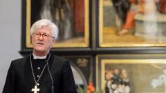 Der Ratsvorsitzende der Evangelischen Kirche in Deutschland  und Landesbischof Heinrich Bedford-Strohm in der Wittenberger Stadtkirche
