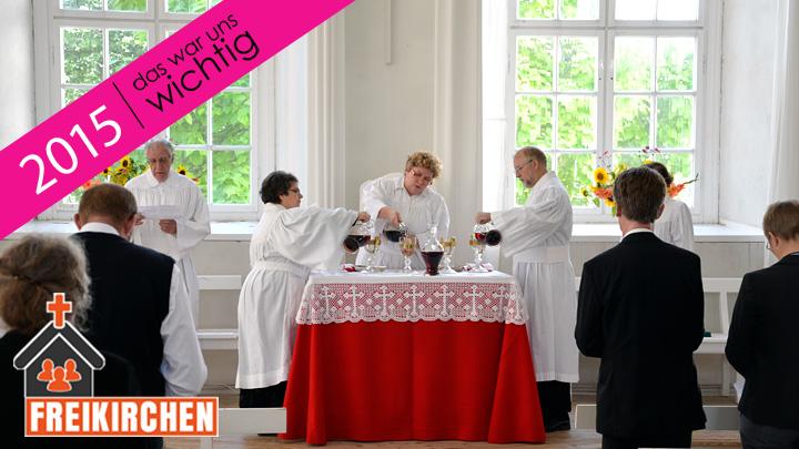 Vorbereitung des Abendmahls in der Herrnhuter Brüdergemeine.