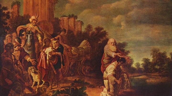 Der Kämmerer der ägyptischen Königin lässt sich nach einer Pilgerreise von Philippus taufen (Apostelgeschichte 8, 26-40). Gemalt um 1640 von Gerrit Claesz Bleker.