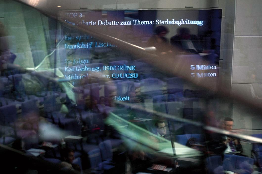 Debatte im Bundestag zum Thema Sterbebegleitung