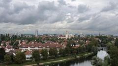 Blick auf die Stadt Kehl in Baden-Württemberg. Sie liegt gegenüber von Straßburg.