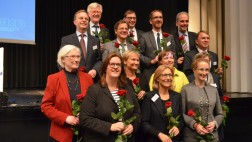 Die Mitglieder des neuen Rates der EKD nach der Wahl