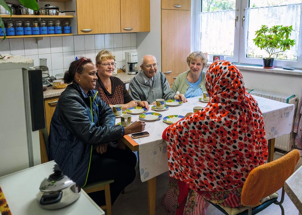 Asylbewerberin in Senioren-Wohngemeinschaft