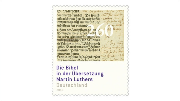 Die Martin Luther Sonderbriefmarke ist schon in Postfilialen erhältlich.
