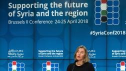 Federica Mogherini bei einer Pressekonferenz im Rahmen der Internationalen Syrien-Konferenz der Europäischen Union und der UN.