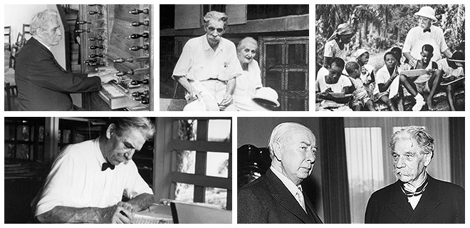 Collage: Albert Schweitzer (1875-1965)