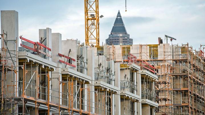 Wohnungsbau im Europaviertel in Frankfurt am Main