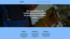 Screenshot der Webseite workeer.de, der ersten Online-Jobbörse für Flüchtlinge in Deutschland.
