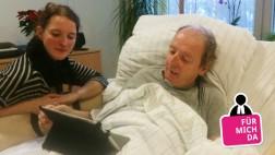 Christiane Meister mit ihrem Vater