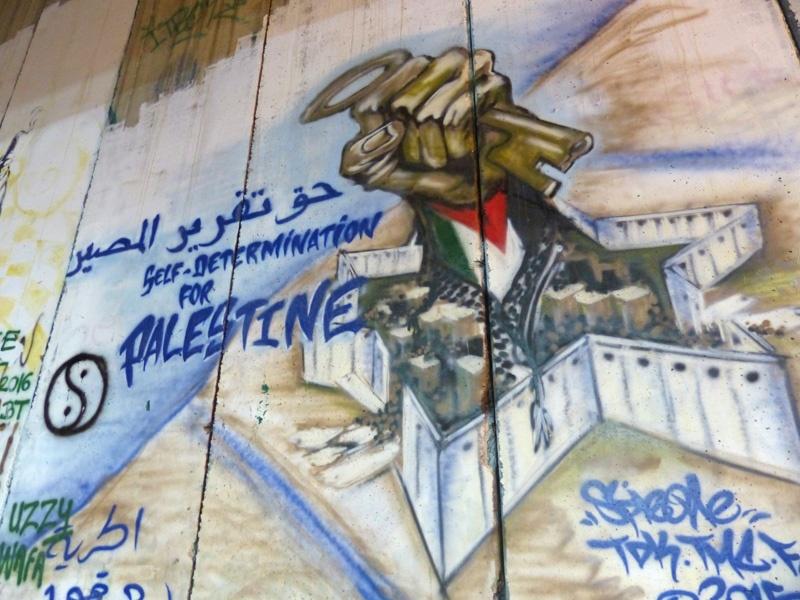 Grafitti an der Mauer