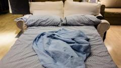 Klappsofa mit Bettdecke