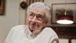 Die Karlsruherin Edelgard Huber von Gersdorff an ihrem 112. Geburtstag 04.12.2017.