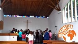 """Gottesdienst in der Gemeinde """"El Adviento de Quito"""" in Ecuador."""