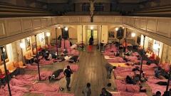 Das Bettenlager in der Hamburger St.Pauli-Gemeinde.