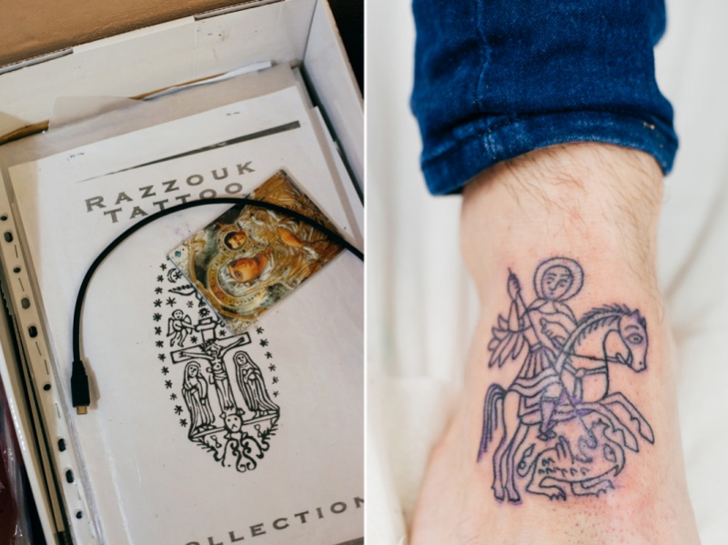 Pilger-Tattoo-Studio, Motiv Sankt Georg