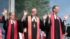 Kirchentag mit Freiluftgottesdienst in Stuttgart beendet