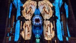 Lichtperformance des Lichtkünstlers Ingo Bracke zum Reformationsfest in Wittenberg