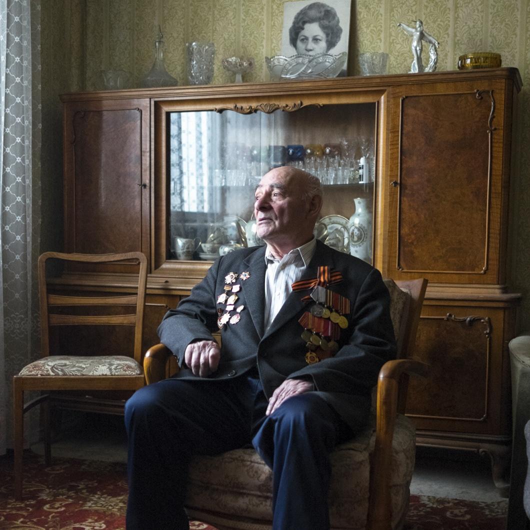 Semjon Friedrich in seiner Moskauer Wohnung
