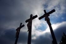 Kreuzigungsgruppe auf dem Kreuzberg in der Rhön (Bayern)