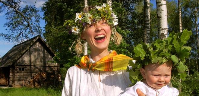 Mittsommerfest in Lettland