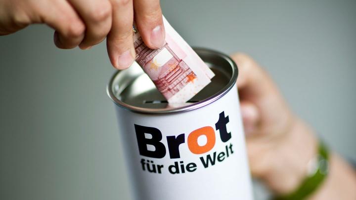 Spendendose für Brot für die Welt