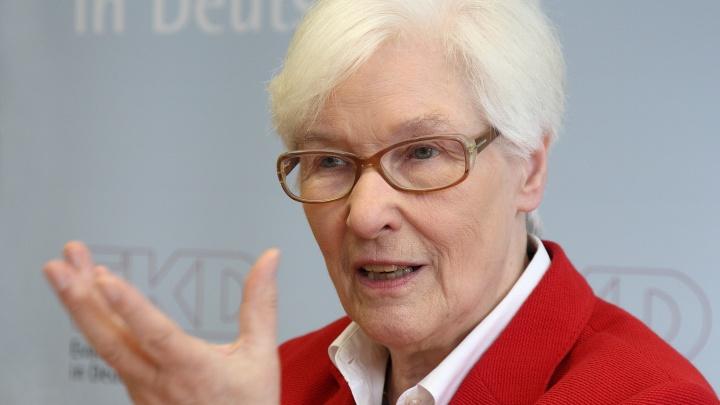 Synodenpräses Irmgard Schwaetzer.