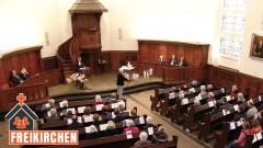 Gottesdienst in der Kirche der Mennoniten in Hamburg-Altona.