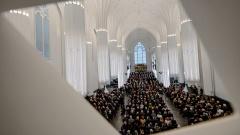 Festakt in der neuen Paulinum - Aula und Universitätskirche St. Pauli in Leipzig