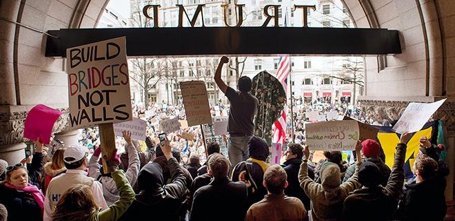 Protest gegen Trumps Muslim-Bann