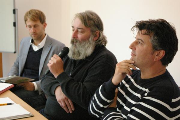 v.l.n.r.: Dieterich, Nassauer, Mijatovic