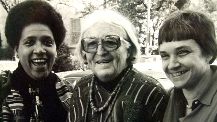 Audre Lorde, Meridel Lesueur, Adrienne Rich (v.l.n.r.) im Jahr 1980.