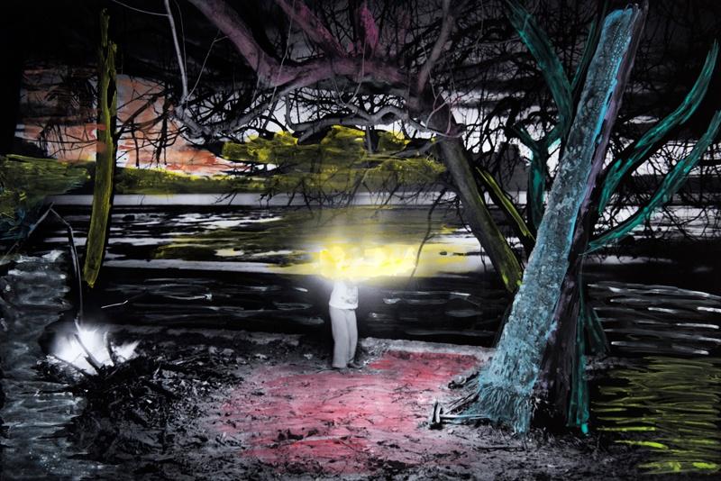 Das Schwarz-Weiss-Bild wurde von einem farbenblinden Insulaner mit Wasserfarben coloriert.