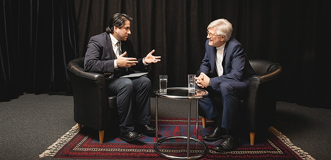 Heinrich Bedford-Strohm und Mouhanad Khorchide im Gespräch