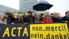 European Parliament - Protest against ACTA