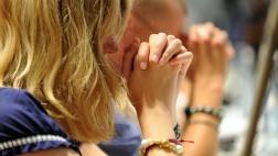 Betende Menschen.