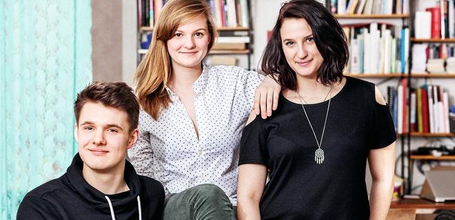 Julian Krogmann, Antonia Mathée und Christina Jung