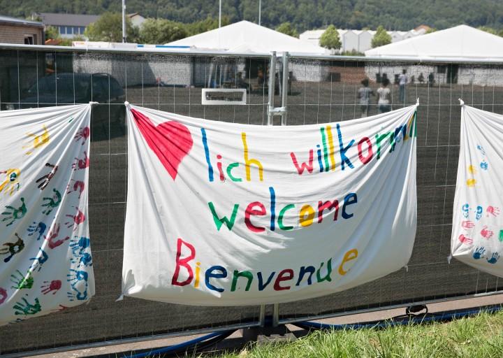 Camp-Anlaufstelle fuer Fluechtlinge in Marburg