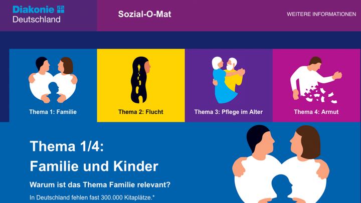 Screenshot des Sozial-O-Mats.