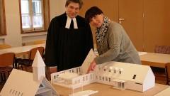 Modell für den Umbau der evangelischen Friedenskirche Wildenheid